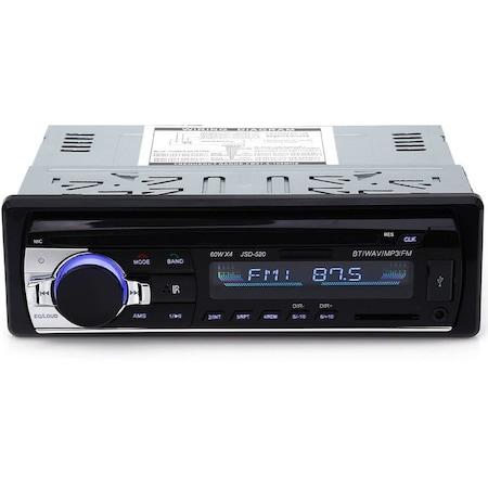 Radio NAVI-IT MP3 auto JSD-520, 4x60W, Bluetooth, Auxiliar , USB, Card Reader 0