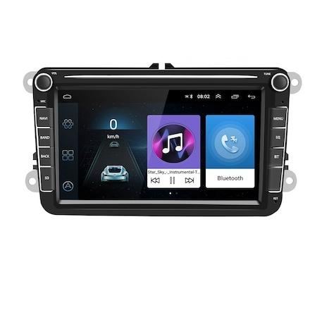 Navigatie Volkswagen Display 8 Inch, Android 9, 1GB Ram, WiFi, Bluetooth, Waze, microfon extern, canbuns + camera marsarier 1