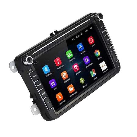 Navigatie Volkswagen Display 8 Inch, Android 9, 1GB Ram, WiFi, Bluetooth, Waze, microfon extern, canbuns + camera marsarier 0