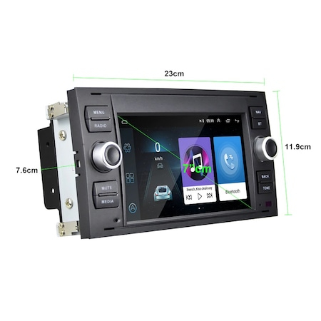 """Navigatie NAVI-IT, 1GB RAM 16GB ROM, dedicata cu Android Ford C-Max 2003-2010 cu Radio GPS Dual Zone, display HD 7"""" Touchscreen, Wi-FI, Bluetooth, Mirrorlink, USB, Waze 2"""