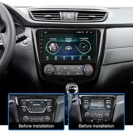"""Navigatie NAVI-IT, 1GB RAM 16GB ROM, Gps Nissan X Trail , Qashqai ( 2013 - 2018 ) Display 10.1 """" , Android , Internet ,Aplicatii , Waze , Wi Fi , Usb , Bluetooth , Mirrorlink [1]"""