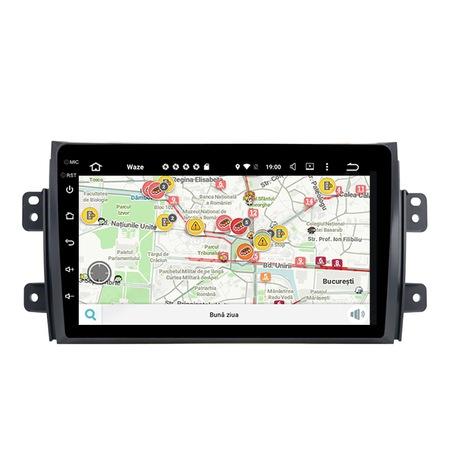 Navigatie NAVI-IT, 4GB RAM 64GB ROM, 4G, IPS, DSP,  Android 10, Suzuki SX4 2GB Ram Ecran 9 inch - Copie 0