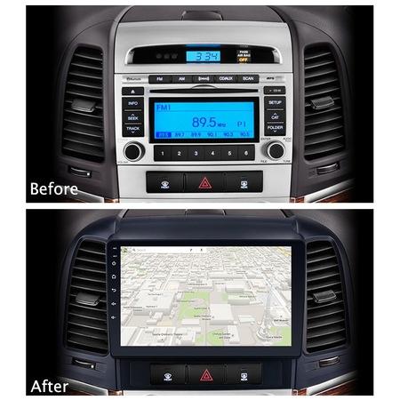 Navigatie NAVI-IT, 1GB RAM 16GB ROM, Android 9.1, Wi-Fi,Bluetooth, Waze, Hyundai Santa Fe, 2005-2012 , 9 Inch 1