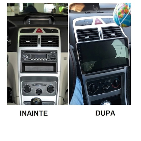 "Navigatie NAVI-IT Gps Peugeot 307 ( 2002 - 2013 ) , Android , 1 GB RAM + 16 GB ROM , Display 9 "" , Internet , Aplicatii , Waze , Wi Fi , Usb , Bluetooth , Mirrorlink 2"