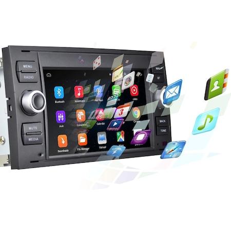 """Navigatie NAVI-IT, 1GB RAM 16GB ROM, dedicata cu Android Ford C-Max 2003-2010 cu Radio GPS Dual Zone, display HD 7"""" Touchscreen, Wi-FI, Bluetooth, Mirrorlink, USB, Waze 1"""