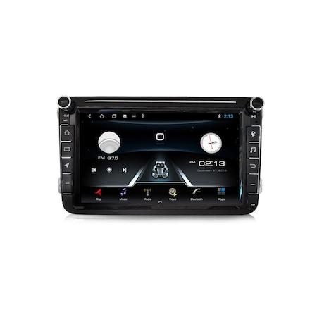 Navigatie NAVI-IT Gps 8 inch VW Golf 5 6 Passat B6 B7 CC Tiguan Touran Jetta Eos Polo Sharan Amarok Caddy , Android , 1 GB RAM + 16 GB ROM , Internet , Aplicatii , Waze , Wi Fi , Usb , Bluetooth , Mir 3