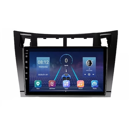 Navigatie NAVI-IT 4GB RAM 64GB ROM, Toyota Yaris ( 2005 - 2012 ) ,Carplay , Android , Aplicatii , Usb , Wi Fi , Bluetooth - Copie - Copie 0