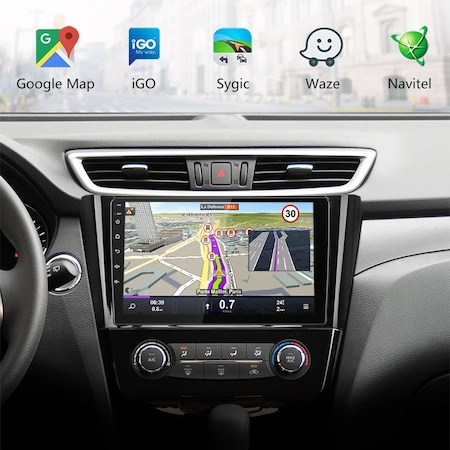 """Navigatie NAVI-IT, 1GB RAM 16GB ROM, Gps Nissan X Trail , Qashqai ( 2013 - 2018 ) Display 10.1 """" , Android , Internet ,Aplicatii , Waze , Wi Fi , Usb , Bluetooth , Mirrorlink [2]"""