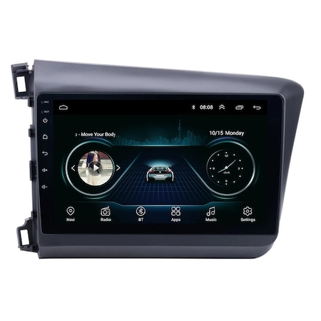 Navigatie NAVI-IT 2GB RAM 32GB ROM, Android Honda Civic ( 2011 - 2015 ) , Display 9 inch, Internet ,Aplicatii , Waze , Wi Fi , Usb , Bluetooth , Mirrorlink - Copie 3