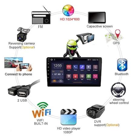 """Navigatie NAVI-IT  1 GB RAM + 16 GB ROM , Gps Ford Fiesta ( 2009 - 2017 ) , Android , Display 9 """" , Internet, Aplicatii , Waze , Wi Fi , Usb , Bluetooth , Mirrorlink [2]"""