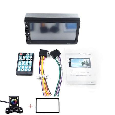 Mp3, Mp5 player auto 7010b 2 DIn, ecran 7 inch touchscreen mirrorlink cu camera marsarier si rama + Telecomanda NAVI-IT pentru comenzi volan mp5 player 7010B, 7012b, 7018b infrarosu [2]