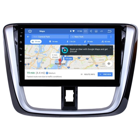 Navigatie NAVI-IT, 4GB RAM 64GB ROM, 4G, IPS, DSP,  Android Toyota Yaris ( 2014 + ) , Display 10 inch , Internet ,Aplicatii , Waze , Wi Fi , Usb , Bluetooth , Mirrorlink - Copie - Copie 2