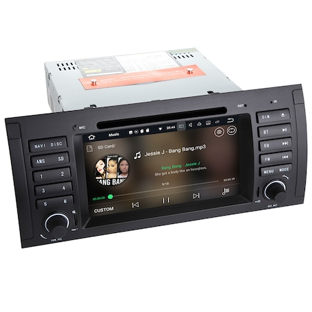 Navigatie NAVI-IT 1+16 GB Gps BMW Seria 5 E39 X5 E53 Seria 7 E38 , Android 9.1, 1GB RAM , Internet , Aplicatii , Waze , Wi Fi , Usb , Bluetooth , Mirrorlink 0