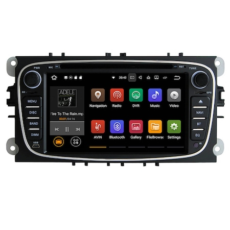 Navigatie NAVI-IT Gps Android Ford Mondeo Focus S Max Transit Tourneo , 1GB RAM +16GB ROM, Internet , Aplicatii , Waze , Wi Fi , Usb , Bluetooth , Mirrorlink 0