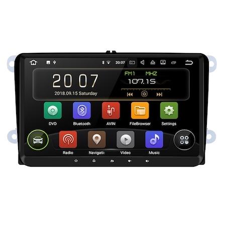 "Navigatie Android de 9 "" VW Golf 5 6 Passat B6 B7 CC EOS Tiguan Polo Touran Caddy Amarok , Skoda Octavia Fabia Seat Leon , Waze Youtube Internet Wi Fi Usb , 2GB RAM + 32 GB ROM 0"