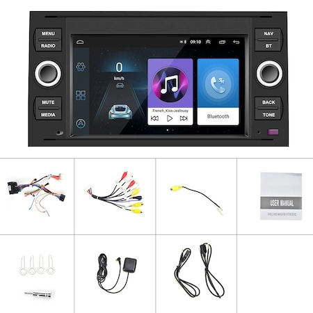 "Navigatie NAVI-IT, 4GB RAM 64GB ROM, 4G, IPS, DSP, dedicata cu Android Ford C-Max 2003-2010 cu Radio GPS Dual Zone, display HD 7"" Touchscreen, Wi-FI, Bluetooth, Mirrorlink, USB, Waze - Copie - Copie 5"