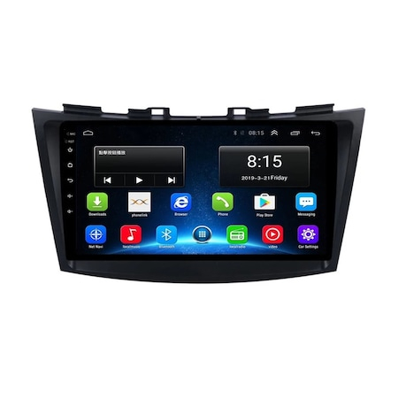 Navigatie NAVI-IT 4GB RAM 64GB ROM, 4G, IPS, DSP, Suzuki Swift ( 2010 - 2017 ) , Carplay , Android , Aplicatii , Usb , Wi Fi , Bluetooth 0