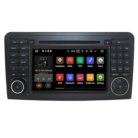 Navigatie NAVI-IT 1GB RAM + 16GB ROM , Gps Mercedes ML W164 , GL X164 ( 2005 - 2012) , Android 9.1 Internet ,Aplicatii , Waze , Wi Fi , Usb , Bluetooth , Mirrorlink [2]