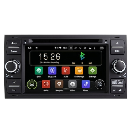 Navigatie NAVI-IT, 1GB RAM 16GB ROM, Gps Android 9.1 Ford Focus Mondeo Fiesta Kuga Transit , Internet , Aplicatii , Waze , Wi Fi , Usb , Bluetooth , Mirrorlink 3