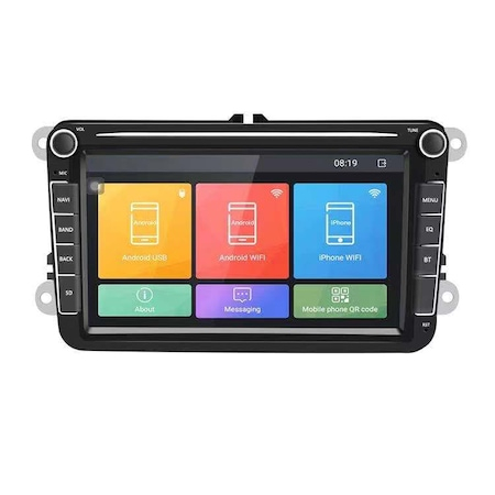 Navigatie Volkswagen Display 8 Inch, Android 9, 1GB Ram, WiFi, Bluetooth, Waze, microfon extern, canbuns + camera marsarier 2