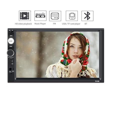 Navigatie MirrorLink mp5 player auto 7010B, Rama 2Din, Suporti prindere,camera marsarier 8 led night-vision, adaptor comenzi volan, Bluetooth, Divix , AVI , USB , SD Card , AUX 5