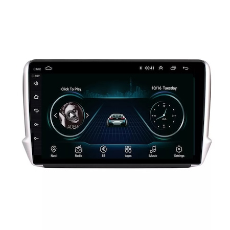 Navigatie NAVI-IT, 1GB RAM 16GB ROM, Peugeot 208 / 2008 ( 2012 - 2020 ) , Android , Display 9 inch, Internet , Aplicatii , Waze , Wi Fi , Usb , Bluetooth , Mirrorlink [3]