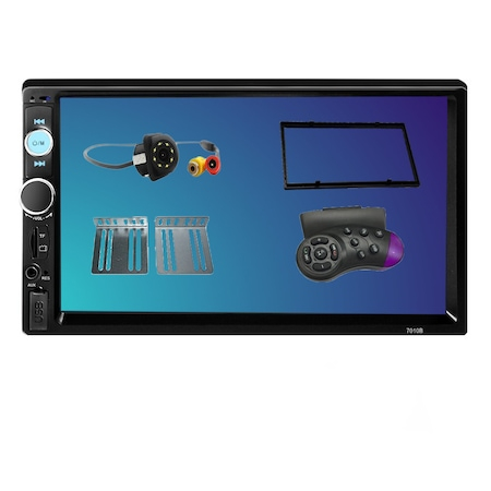 Navigatie MirrorLink mp5 player auto 7010B, Rama 2Din, Suporti prindere,camera marsarier 8 led night-vision, adaptor comenzi volan, Bluetooth, Divix , AVI , USB , SD Card , AUX 0