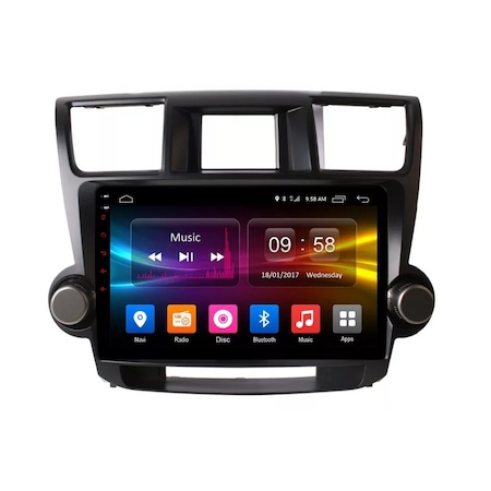 Navigatie NAVI-IT, 1GB RAM 16GB ROM, Android Toyota Highlander ( 2009 - 2014 ) , Display 10 inch, Internet ,Aplicatii , Waze , Wi Fi , Usb , Bluetooth , Mirrorlink 1