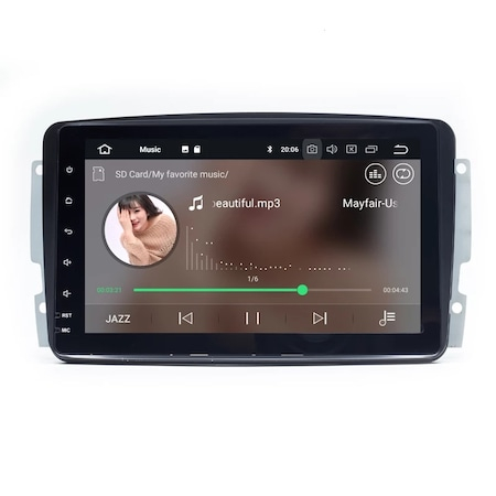 Navigatie NAVI-IT 1GB RAM 16 GB ROM Mercedes C-class w203,E-class w210,Vaneo,Viano,Vito,A-class w168,G-class w463 ,M-class /ML W163 ,Wi-Fi, Android 10,Bluetooth 0