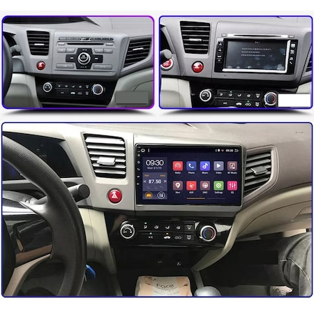 Navigatie NAVI-IT 4GB RAM 64GB ROM, 4G, IPS, DSP, Android Honda Civic ( 2011 - 2015 ) , Display 9 inch, Internet ,Aplicatii , Waze , Wi Fi , Usb , Bluetooth , Mirrorlink - Copie - Copie 5