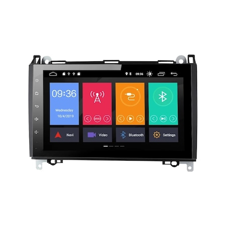 Navigatie NAVI-IT 2 GB RAM 32 GB ROM Android Mercedes Vito Sprinter Viano B200 A B Class VW Crafter , Display 9 inch , Internet ,Aplicatii , Waze , Wi Fi , Usb , Bluetooth , Mirrorlink [0]