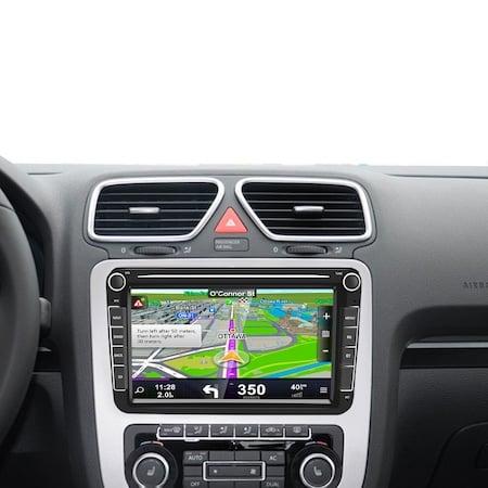 Navigatie Volkswagen Display 8 Inch, Android 9, 1GB Ram, WiFi, Bluetooth, Waze, microfon extern, canbuns + camera marsarier 3
