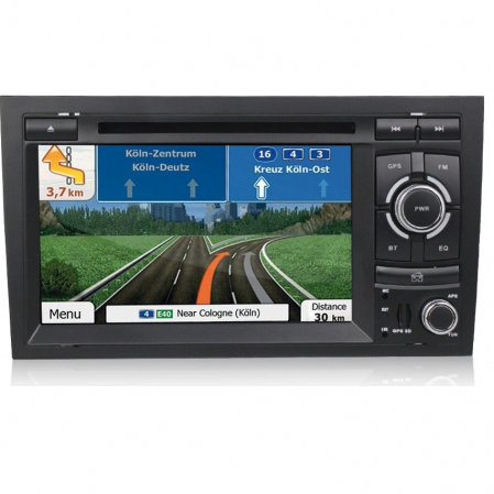 Navigatie auto dedicata Audi A4 (B6, B7) 2002-2008, Android 9 cu DVD + Cadou Card GPS 8Gb0