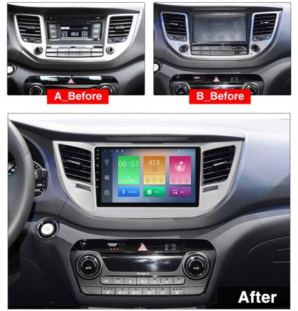 Navigatie Hyundai Tucson, IX35 2014-2018, NAVI-IT, 9 Inch, 4GB RAM 64GB ROM, IPS, DSP, RDS, 4G, Android 10 , WiFi, Bluetooth, Magazin Play, Camera Marsarier [1]