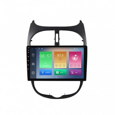 Navigatie Peugeot 206, NAVI-IT, 9 Inch, 1GB RAM 16GB ROM, Android 9.1, WiFi, Bluetooth, Magazin Play, Camera Marsarier [0]