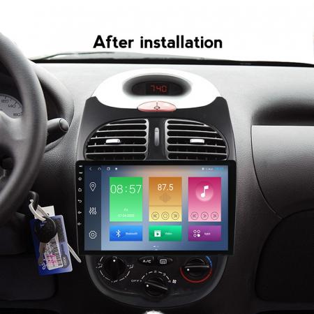 Navigatie Peugeot 206, NAVI-IT, 9 Inch, 2GB RAM 32GB ROM, Android 9.1, WiFi, Bluetooth, Magazin Play, Camera Marsarier [2]