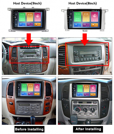 Navigatie Toyota Land Cruiser 2005, NAVI-IT, 9 Inch, 2GB RAM 32GB ROM, Android 9,1, WiFi, Bluetooth, Magazin Play, Camera Marsarier [1]
