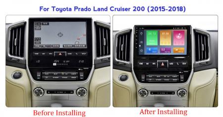 Navigatie Toyota Land Cruiser 2016, NAVI-IT, 9 Inch, 1GB RAM 16GB ROM, Android 9.1 , WiFi, Bluetooth, Magazin Play, Camera Marsarier [1]