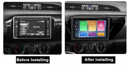 Navigatie Toyota Hilux 2016, NAVI-IT, 10.2 Inch, 1GB RAM 16GB ROM, Android 9.1 , WiFi, Bluetooth, Magazin Play, Camera Marsarier [1]