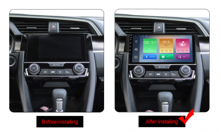 Navigatie Honda Civic 2016-2018, NAVI-IT, 9 Inch, 2GB RAM 32GB ROM, Android 9.1 , WiFi, Bluetooth, Magazin Play, Camera Marsarier [1]