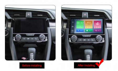 Navigatie Honda Civic 2016-2018, NAVI-IT, 9 Inch, 4GB RAM 64GB ROM, IPS, DSP, RDS, 4G, Android 10 , WiFi, Bluetooth, Magazin Play, Camera Marsarier [1]