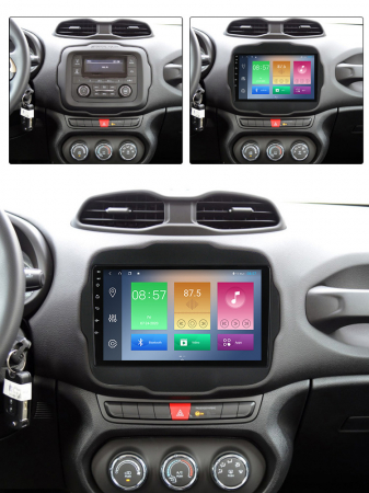 Navigatie Jeep Renegade 2016-2018, NAVI-IT, 9 Inch, 4GB RAM 64GB ROM, IPS, DSP, RDS, 4G, Android 10 , WiFi, Bluetooth, Magazin Play, Camera Marsarier [3]