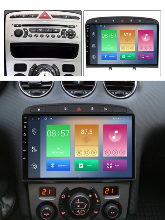 Navigatie Peugeot 408, NAVI-IT, 9 Inch, 1GB RAM 16GB ROM, Android 9.1, WiFi, Bluetooth, Magazin Play, Camera Marsarier [5]