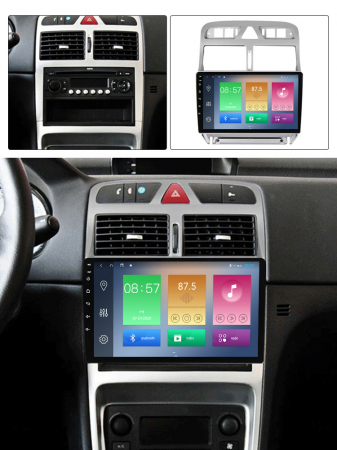 Navigatie Peugeot 307 2002-2013, NAVI-IT, 9 Inch, 2GB RAM 32GB ROM, Android 9.1, WiFi, Bluetooth, Magazin Play, Camera Marsarier [3]