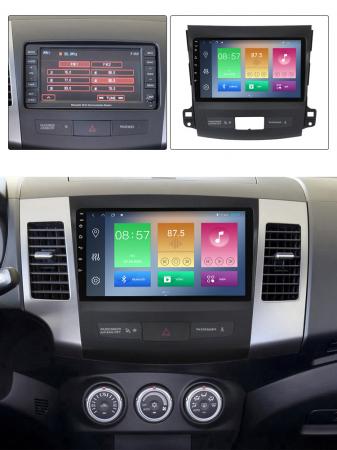 Navigatie Mitsubishi Outlander 2006-2012. NAVI-IT, 9 Inch, 4GB RAM 64GB ROM, IPS, DSP, RDS, 4G, Android 10 , WiFi, Bluetooth, Magazin Play, Camera Marsarier [5]