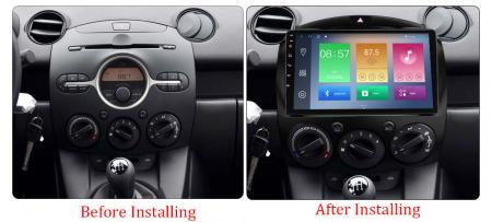 Navigatie Mazda 2 2007-2014, NAVI-IT, 9 Inch, 1GB RAM 16GB ROM, Android 9.1, WiFi, Bluetooth, Magazin Play, Camera Marsarier [1]