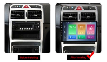 Navigatie Peugeot 307 2002-2013, NAVI-IT, 9 Inch, 2GB RAM 32GB ROM, Android 9.1, WiFi, Bluetooth, Magazin Play, Camera Marsarier [1]