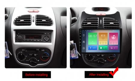 Navigatie Peugeot 206, NAVI-IT, 9 Inch, 2GB RAM 32GB ROM, Android 9.1, WiFi, Bluetooth, Magazin Play, Camera Marsarier [1]
