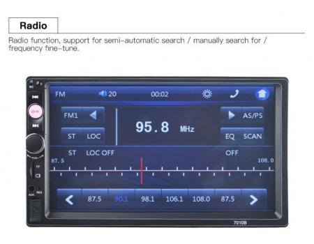 Navigatie auto universala MP5 Player 2DIN, Windows, 7 inch, FM, BT, Mirror-link,rama adaptoare1