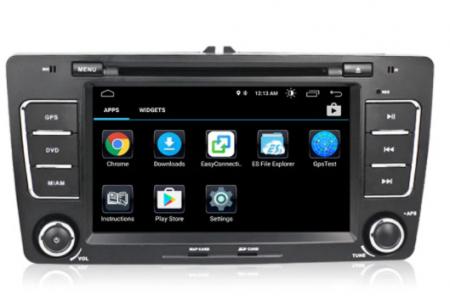 Navigatie NAVI-IT, 2GB RAM 16GB ROM, Skoda Octavia 2, Display 7 Inch, Android 10, IPS, DSP, RDS, WiFi, Bluetooth, Magazin Play3